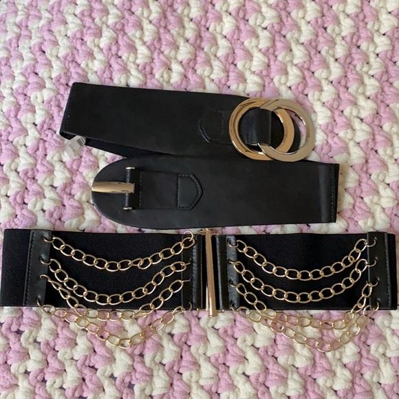 Black/Gold belts (set of two)